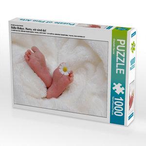 CALVENDO Puzzle Süße Babys. Hurra, wir sind da! 1000 Teile Lege-