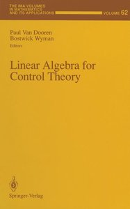 Linear Algebra for Control Theory