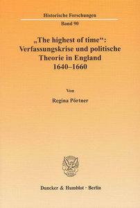 """""""The highest of time"""": Verfassungskrise und politische Theorie i"""
