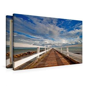 Premium Textil-Leinwand 90 cm x 60 cm quer Kleine Seebrücke