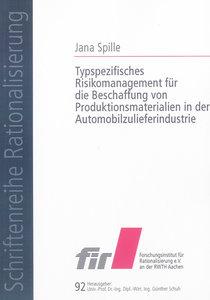 Typspezifisches Risikomanagement für die Beschaffung von Produkt