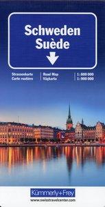 KuF Schweden 1 : 800 000 / 1 : 900 000 Strassenkarte