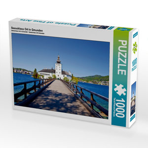 Seeschloss Ort in Gmunden 1000 Teile Puzzle quer