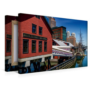 Premium Textil-Leinwand 45 cm x 30 cm quer Boston Tea Party Muse