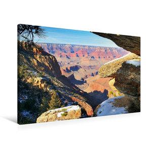 Premium Textil-Leinwand 90 cm x 60 cm quer Grand Canyon South Ri