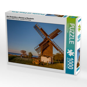 Alte Windmühle in Melsted auf Bornholm 1000 Teile Puzzle quer