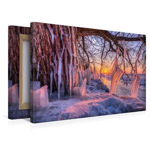 Premium Textil-Leinwand 45 cm x 30 cm quer Eiszapfen am Südufer