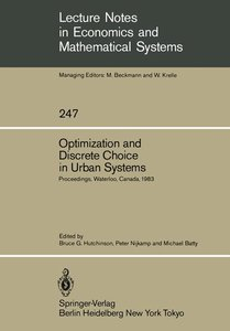 Optimization and Discrete Choice in Urban Systems