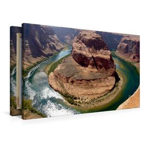Premium Textil-Leinwand 90 cm x 60 cm quer Horseshoe Bend