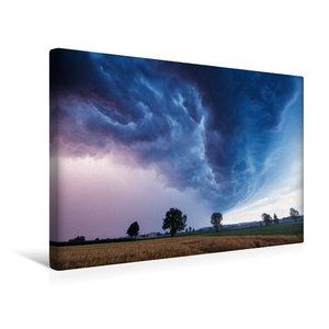 Premium Textil-Leinwand 45 cm x 30 cm quer Shelfcloud zur blauen