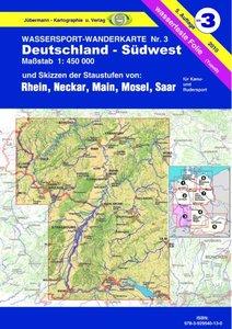 Wassersport-Wanderkarte 03. Deutschland-Südwest 1 : 450 000