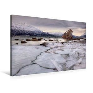 Premium Textil-Leinwand 75 cm x 50 cm quer Lost in Norway