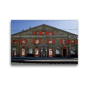 Premium Textil-Leinwand 45 cm x 30 cm quer Bahnstation Ospizio B