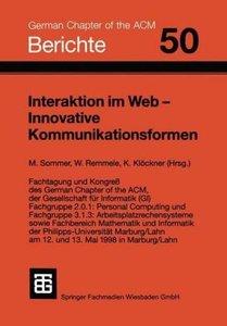 Interaktion im Web - Innovative Kommunikationsformen