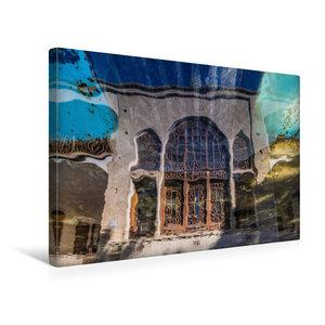 Premium Textil-Leinwand 45 cm x 30 cm quer Reflektion im Wasser