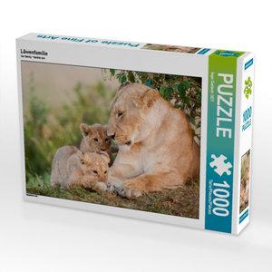 Löwenfamilie 1000 Teile Puzzle quer