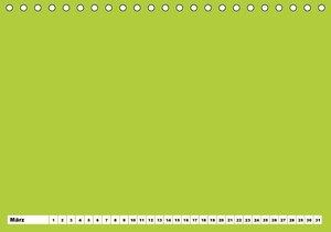 Bunter Bastelkalender (Tischkalender immerwährend DIN A5 quer)