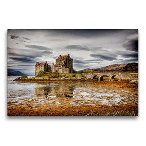 Premium Textil-Leinwand 75 cm x 50 cm quer Eilean Donan Castle