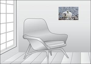 Premium Textil-Leinwand 45 cm x 30 cm quer Winkendes Robenbaby