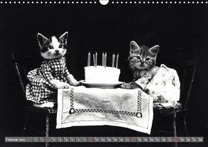 Hunde und Katzen - Nostalgie im Kuschelfell (Wandkalender 2019 D