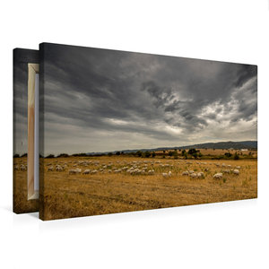 Premium Textil-Leinwand 75 cm x 50 cm quer Wilde Landschaft