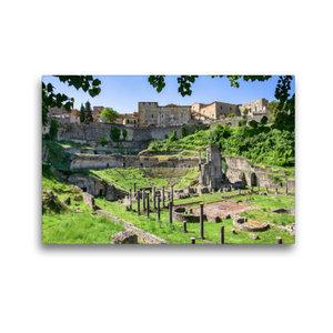 Premium Textil-Leinwand 45 cm x 30 cm quer Volterra: Der Bau des