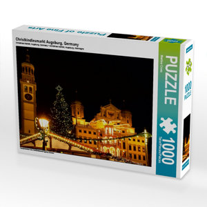 Christkindlesmarkt Augsburg, Germany 1000 Teile Puzzle quer