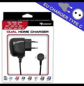 SUBSONIC Dual Home Charger, Ladegerät für Nintendo 3DS
