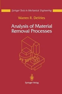 Analysis of Material Removal Processes
