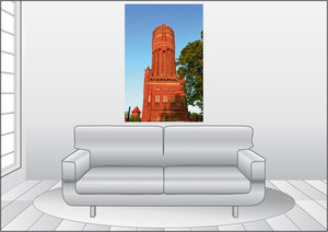 Premium Textil-Leinwand 80 cm x 120 cm hoch Wasserturm