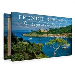 Premium Textil-Leinwand 75 cm x 50 cm quer French Riviera