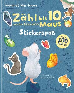Zähl bis 10 mit der kleinen Maus - Stickerspaß