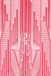 Premium Textil-Leinwand 80 cm x 120 cm hoch Pink Art