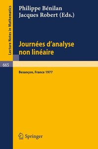 Journees d'Analyse Non Lineaire
