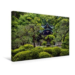 Premium Textil-Leinwand 45 cm x 30 cm quer Okazaki Tempel, Kyoto
