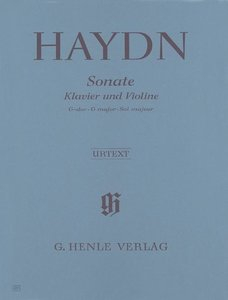 Sonate für Klavier und Violine G-dur Hob. XV:32