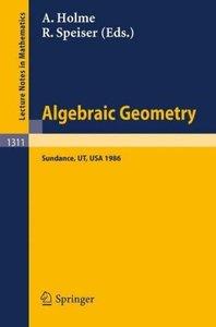 Algebraic Geometry. Sundance 1986