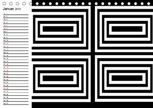 Kontrastreiche schwarz-weiße Bilder (Tischkalender 2019 DIN A5 q