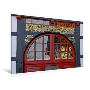 Premium Textil-Leinwand 120 cm x 80 cm quer Vierständerhaus von