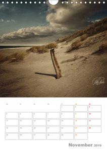 Nordsee-Dünen, Vintage-Style / Planer (Wandkalender 2019 DIN A4