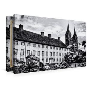 Premium Textil-Leinwand 90 cm x 60 cm quer Schloss und Kloster