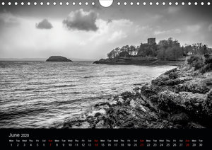 Black and White Scotland (Wall Calendar 2020 DIN A4 Landscape)