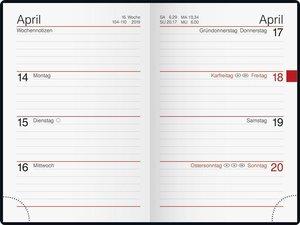 Taschenkalender Partner 2016 PVC schwarz