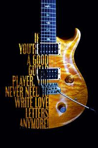 Premium Textil-Leinwand 60 cm x 90 cm hoch Legendäre Rockgitarre
