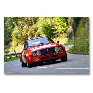 Premium Textil-Leinwand 90 cm x 60 cm quer Lancia Fulvia Zagato