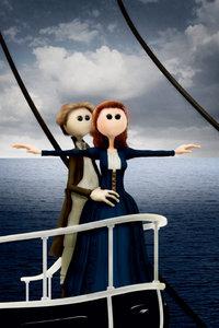 Premium Textil-Leinwand 60 cm x 90 cm hoch Titanic