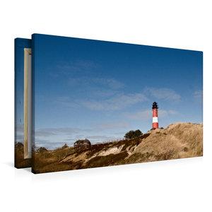 Premium Textil-Leinwand 90 cm x 60 cm quer Leuchtturm