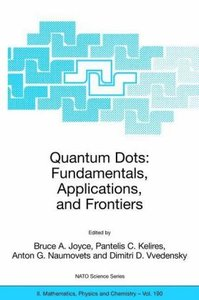 Quantum Dots: Fundamentals, Applications, and Frontiers