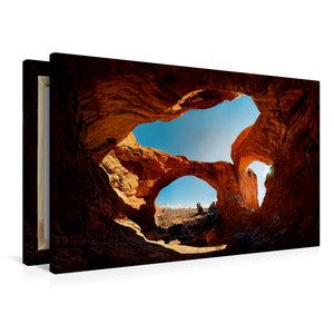 Premium Textil-Leinwand 90 cm x 60 cm quer Double Arch, Arches N