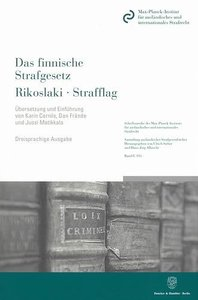 Das finnische Strafgesetz / Rikoslaki / Strafflag nach dem Stand